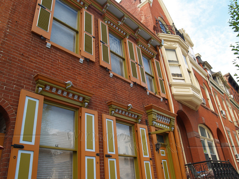 Old Victorian Row Houses; Lancaster, PA