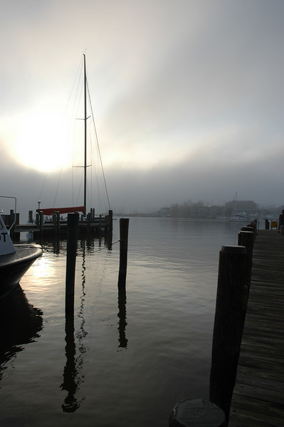 Foggy Morning, City Dock Annapolis MD