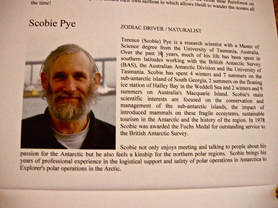 Scobie Pye zodiac driver, he has been out here many times