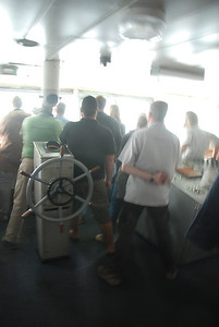 Blurred images, but worth keeping, the ships crew, mostly Russian ice navigators