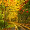 Blue Ridge Parkway Curve-Rainy Soft Focus-Oct142014_0105