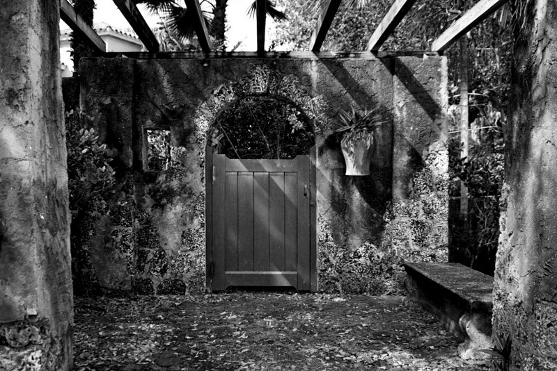 Gate to a Secret Garden B/W