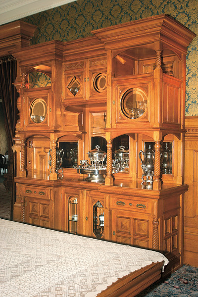 Carson Mansion, Custom China Hutch in the main dining room