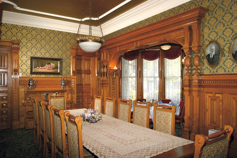 Carson Mansion, Main dining room.