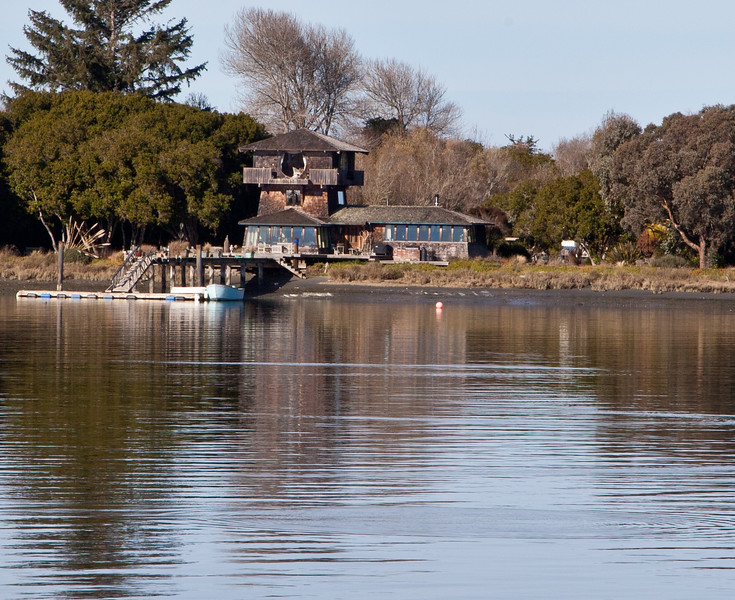 Private residence on an Island, Humboldt Bay, Eureka CA
