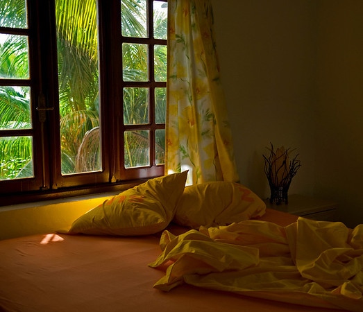 Caribbean Bedroom with Sunlight