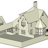 This is a sample of a basic SketchUp model that I worked on for a residential project.