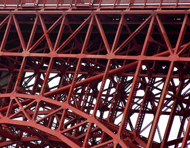 Frame Structure of the Golden Gate Bridge in San Francisco California - © Simpson Brothers Photography