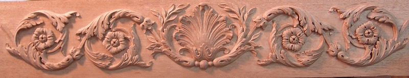 Carved frieze