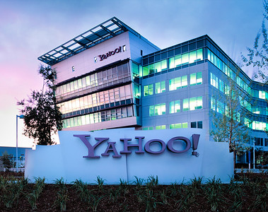Yahoo! Exterior at Dusk