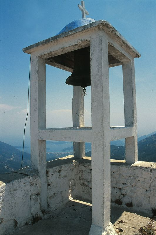 Bell on top of Aghios Illias,on Lefkada Island, Greece