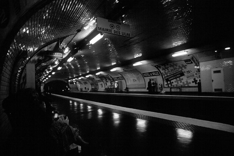 Mairie Des Lilas Metro station in Paris, France