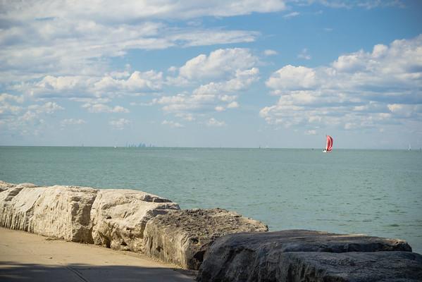 Lake Ontario, Toronto in the Distance