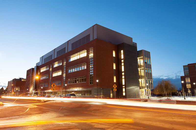 The exterior of Washington State University's College of Pharmacy is photographed, Tuesday, March 4, 2014, in Spokane, Wash. (Young Kwak/The Pacific Northwest Inlander InHealth NW)