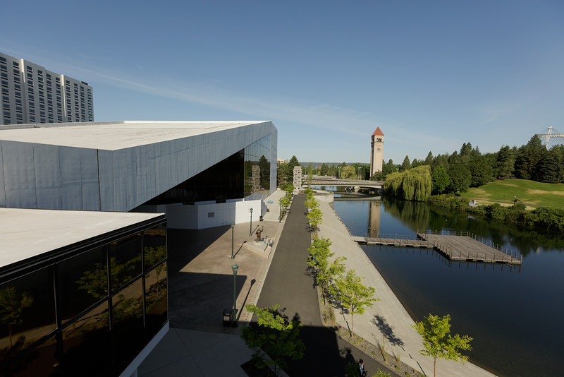 Riverfront Park is photographed from the Spokane Convention Center, Tuesday, June 16, 2015, in Spokane, Wash. (Young Kwak/Pacific Northwest Inlander Advertising)