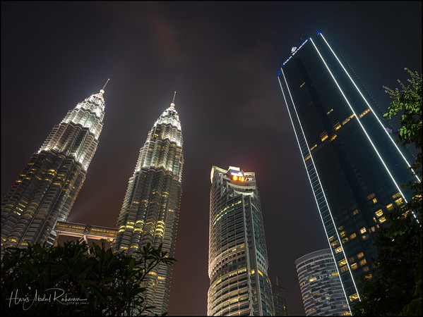 The Twin Tower with a tripod