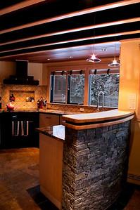 107 Vaughan Street kitchen detail.  An 8 image vertical panorama.