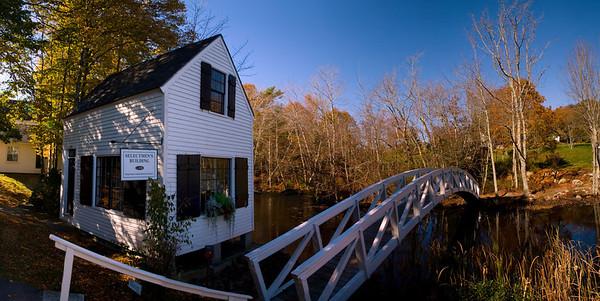 Monet Bridge, Autumn 2008, Somesville, Maine.