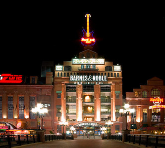 Baltimore Hard Rock Cafe, ESPN Zone and Barnes & Noble Booksellers by night, December 30, 2008.