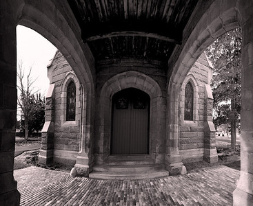 Welcome to the Chapel Evergreen Chapel, Evergreen Cemetery, Stevens Ave, Portland, Maine A 10 image horizontal panorama taken with an ultrawide 12-24mm lens.