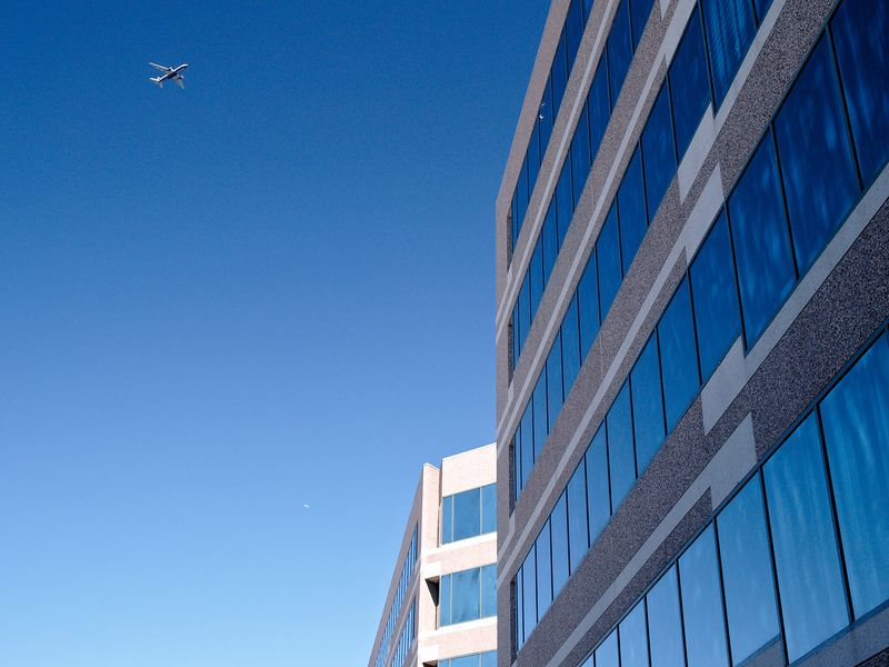 Office building in the Dulles Technology Corridor outside of Reston, VA.