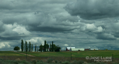 Barns and Clouds, Washington