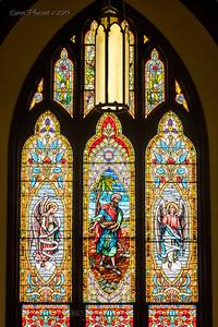 Makemie Memorial Presbyterian Church - rear window, Maryland