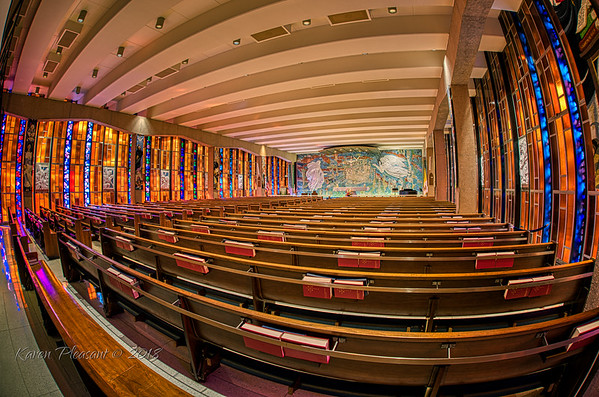 Catholic chapel - 15mm fisheye, Colorado