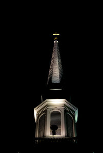 Woodfords Church Steeple by night Portland, Maine November 12, 2008 All photographs are printed on high quality, professional Kodak metallic paper, unmatted, and shipped to you unframed so that you may choose your own matting and framing materials.  The following sizes are available unmatted: Unmatted prices: 8 x 10  $35 11 x 14  $50 16 x 20  $75 20 x 24  $100