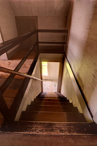 This is a view looking down the third floor stairs.