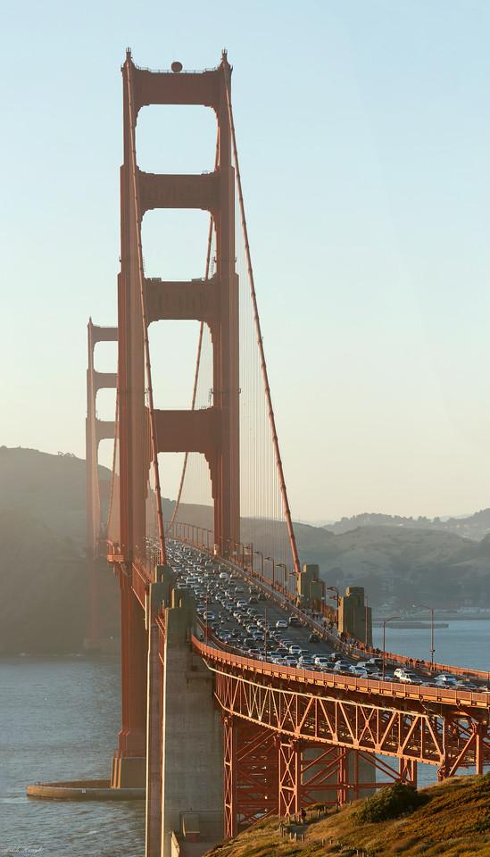 Large mosaic of Golden Gate bridge