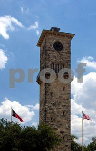 Old clock tower at Fort Sam Houston Army base (San Antonio, Texas)