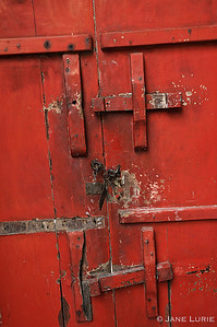 Red Door and Locks, Luang Prebang, Laos