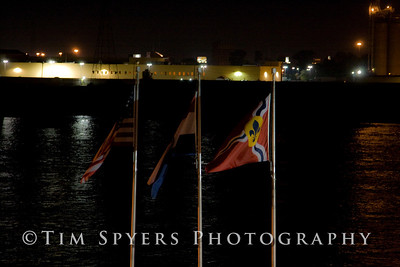 A night on the St. Louis Riverfront Landing.
