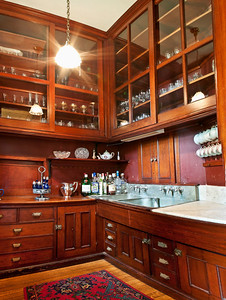 """The Butler's Pantry, complete with original """"pigeon blood paint."""""""
