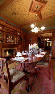 The dining room--a 5 image vertical panorama.