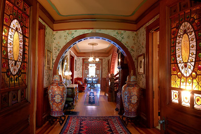Hartley Lord Estate, Wide angle view of entrance hall Kennebunk, Maine