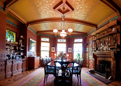 The dining room, a horizontal panorama