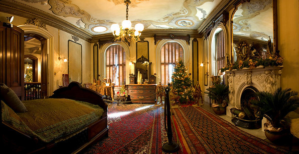 Parlor Chamber bedroom, Victoria Mansion, Portland, ME.