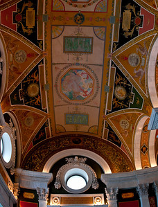 Library of Congress Hallway ceiling detail (10 image vertical handheld panorama)