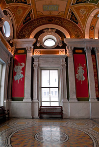 Library of Congress Hallway Window detail (8 image vertical handheld panorama)