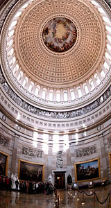 United States Capitol Rotunda (a 15 image vertical, handheld panorama)