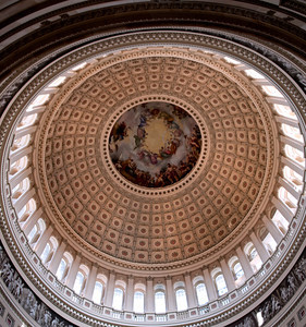 The United States Capitol Rotunda dome (a 10 image panorama, handheld)