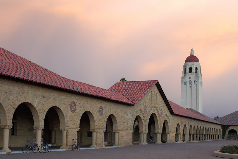 The main quad, Stanford University,<br /> (C) Copyright Arash Hazeghi, all rights reserved. no print or reproduction allowed without written consent
