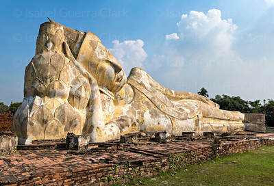 Reclining Buddha of Ayutthaya, Thailand