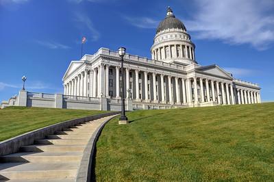 Stone Steps to Utah State Capitol - Salt Lake City