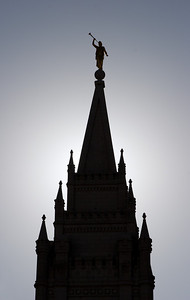 Salt Lake Temple Silhouette, Salt Lake City, UT