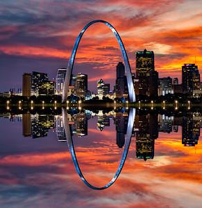 St. Louis Gateway Arch Reflection