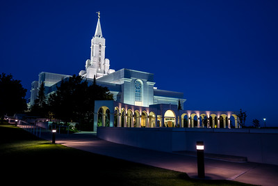 Bountiful Mormon (LDS) Temple Before Sunrise - Utah
