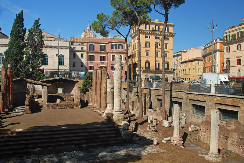 Old surrounded by the new. Rome, Italy, Europe